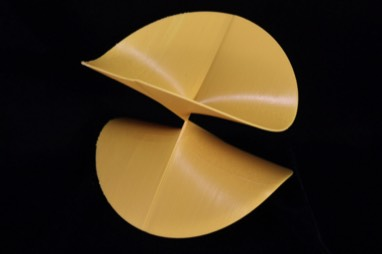 algebraic surface Limao in yellow on a black background